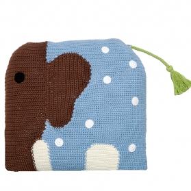 Szyndełkowa poduszka Wilfred niebieski słoń
