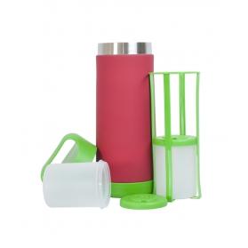 Termos na butelki i żywność (czerwono-zielony)