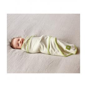 Otulaczek dla niemowlaka z bio bawełny (w serca)