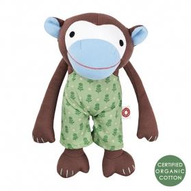 Przytulanka Małpka Frederik w zielonych spodniach