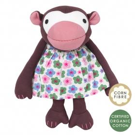 Przytulanka Małpka Frida w kwiecistej sukience