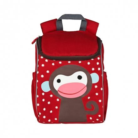 Czerwony plecak małpka Kalle