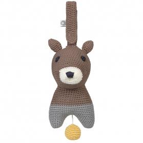 Muzyczna zabawka Hella brązowa wiewiórka