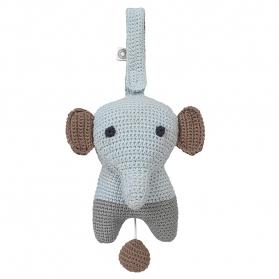 Muzyczna zabawka Hella szary słoń