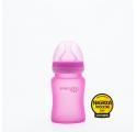 Szklana butelka reagująca na temperaturę 150ml (Różowa)