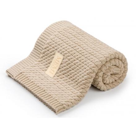 Bawełniany kocyk warkocz 80x100 sand