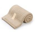 MEMI - Bawełniany kocyk warkocz 80x100 sand