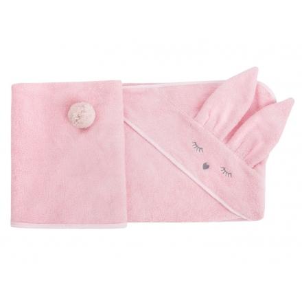 SAMIBOO - Bambusowy ręcznik króliczek różowy