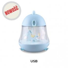 RABBIT & FRIENDS - Lampka z pozytywką niebieska