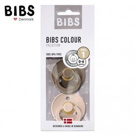 BIBS - Zestaw smoczków uspokajających S 2 pack BLUSH & DARK OAK