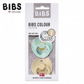 BIBS - Zestaw smoczków uspokajających S 2 pack MINT & BEIGE