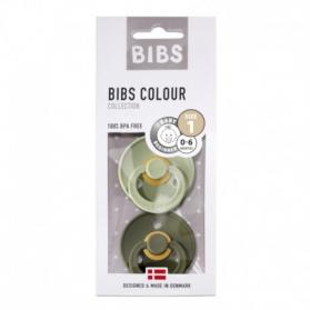 BIBS - Zestaw smoczków uspokajających S 2 pack SAGE & GREEN HUNTER