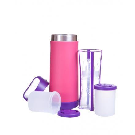Termos na butelki i żywność (fioletowo-rózowy)