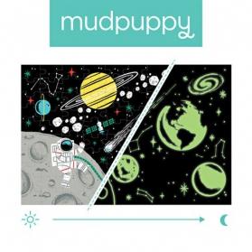 Mudpuppy Puzzle świecące w ciemności Kosmos 100 elementów