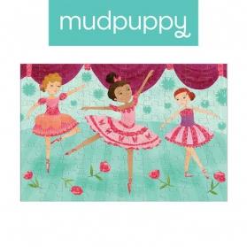 Mudpuppy Puzzle z brokatem Baletnice 100 elementów 5+