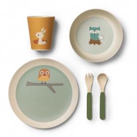 Franck & Fischer Bambusowy zestaw jedzeniowy przyjaciele