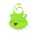 Śliniak silikonowy (zielona żaba)