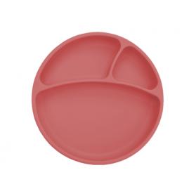 Minikoioi talerzyk silikonowy różany