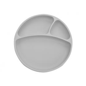 Minikoioi talerzyk silikonowy szary