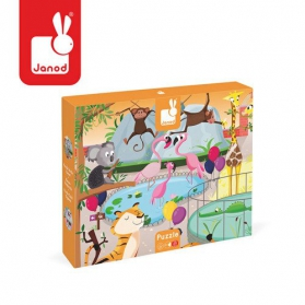 Janod Puzzle sensoryczne zoo