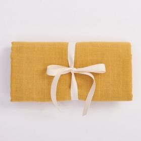 Bim Bla Muślinowy otulacz z bawełny organicznej jasny musztardowy