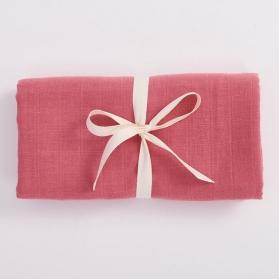 Bim Bla Muślinowy otulacz z bawełny organicznej różowy