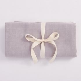 Bim Bla Muślinowy otulacz z bawełny organicznej szary