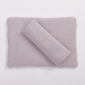 Bim Bla Muślinowa poduszka z bawełny organicznej jasny róż