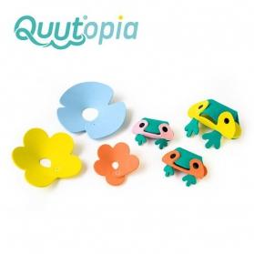 QUUT Zestaw puzzli piankowych 3D Żabki