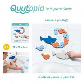 QUUT Zestaw puzzli piankowych 3D Wieloryby