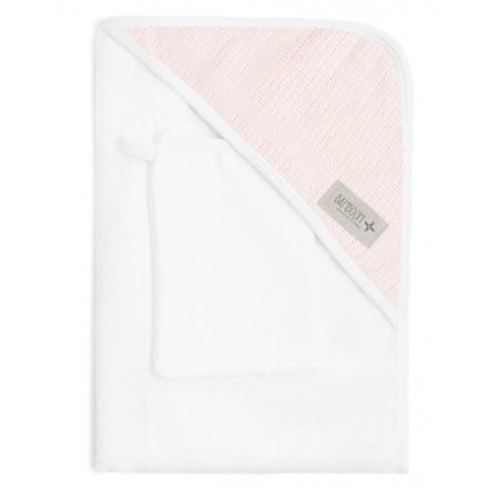 Bamboom Ręcznik Bambusowy z Kapturkiem + Myjka, Biały, 0m+