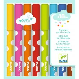 Djeco Flamastry dla maluchów 8 kolorów