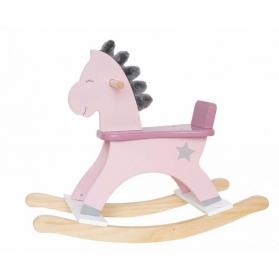 Jabadabado Koń na biegunach pastelowy róż