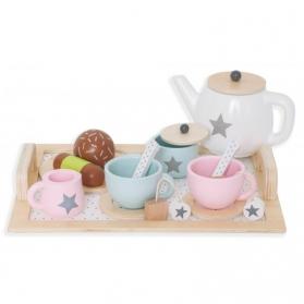 Jabadabado Drewniany serwis do herbaty
