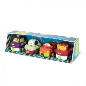 B.Toys Miękkie autka czteropak