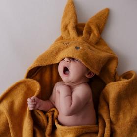 Samiboo Bambusowy ręcznik króliczek musztardowy
