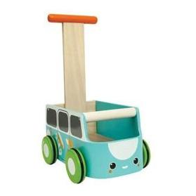 Plan Toys Drewniany chodzik van niebieski