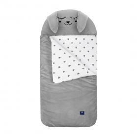 Kidspace Śpiworek sleepover small szary zając