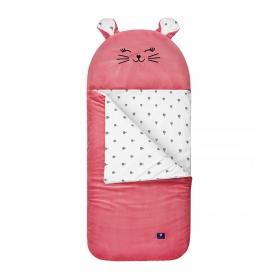 Kidspace Śpiworek do żłobka truskawkowa kotka