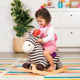 BToys Pluszowa zebra na biegunach