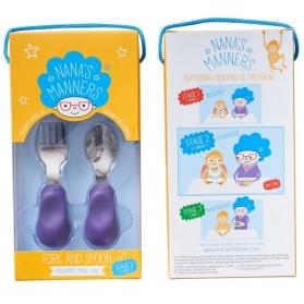 Nana's Manners 2 widelec i łyżka 1-3 lata purple