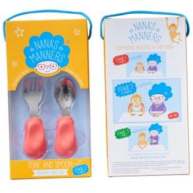 Nana's Manners 2 widelec i łyżka 1-3 lata pink