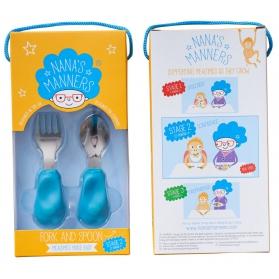 Nana's Manners 2 widelec i łyżka 1-3 lata blue