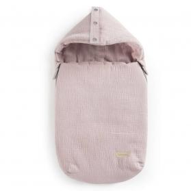 Beztroska Śpiworek muślinowy Robin Chudek różowy