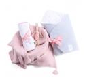 Zestaw wyprawkowy 3w1 (rożek + ręcznik + kocyk bambusowy z kapturem) MilkyWay Peach